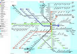 Marta Subway Map by Tokyo Metropolitan Railway System 3000x2171 Mapporn