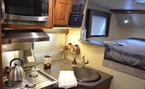 lance 865 truck camper with a layout similar to its larger