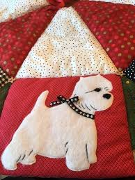 tree skirt and westie dishes for sale