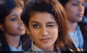 Indian Song Meme - priya prakash varrier who went viral with a wink