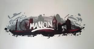 deco chambre londres décoration graffiti de la chambre de manon