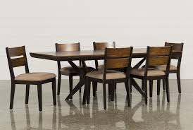 Living Spaces Dining Room Sets Spencer 7 Piece Rectangle Dining Set W Wood Chairs Living Spaces
