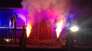 Halloween Party Lights Halloween Lighting With Fog Youtube