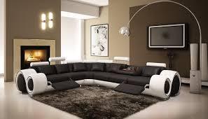 canape d angle design cuir deco in canape d angle design cuir noir et blanc