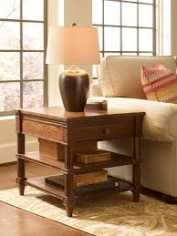 Traditional Living Room Tables Freeport Bronze Ceramic Table L With Light Beige Linen Shade