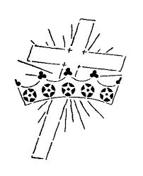 digital st design religious cross and crown digital image