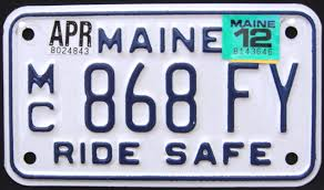 Maine Vanity License Plates Maine Motorcycle License Plates