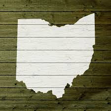 Map Of Ohio State by Map Of Ohio State Outline White Distressed Paint On Reclaimed Wood