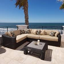 Thick Patio Furniture Cushions 25 Awesome Modern Brown All Weather Outdoor Patio Sectionals