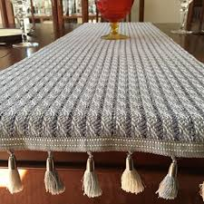 pub table runner with reversible tassel trim constance