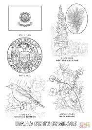 idaho state symbols coloring page free printable coloring pages