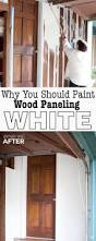 diy home repair hack easily paint over wood paneling woods