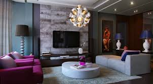 beautiful gray purple accent wall mesmerizing sizable livingroom