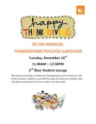 ecla thanksgiving activities