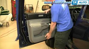 how to install replace remove front door panel toyota tacoma 05 12