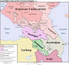 map of europe russia and the independent republics caucasus