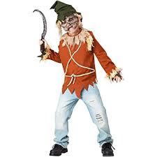 Psycho Halloween Costume Amazon Psycho Scary Scarecrow Kids Costume Clothing