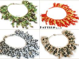 free necklace pattern images Free crochet necklace coral reef pattern crochet news png