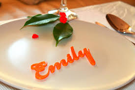 personalized wedding place card laser cut name table decor for