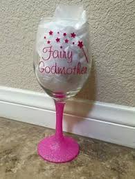 godmother wine glass fairy godmother personalized wine glass mug chevron
