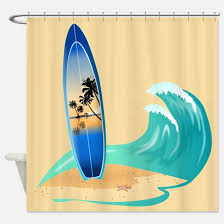 Surfer Shower Curtain Surfboard Shower Curtains Cafepress