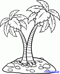 coconut tree clip art black and white google search caillies