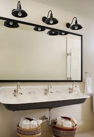 Bathroom Faucets Seattle by Terrific Trough Bathroom Sinks With Red Brick Wall Exposed Slanted