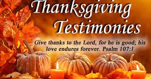 friendship bible church thanksgiving testimony time