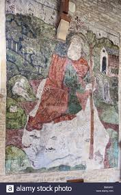 church wall murals stock photos church wall murals stock images 14th century wall painting of st christopher in the church in the cotswold village of baunton