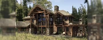 dakota hybrid timber and log home floor plan