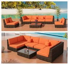 patio furniture roxy outdoor wicker sectional sofa set bronze viro