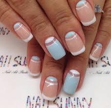 white nails top white half moon nails tip designs ideas 2018