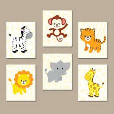 Jungle Nursery Wall Decor Safari Nursery Wall Decor Amazing Jungle Nursery Animal Wall