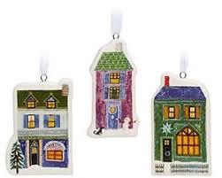 unicef house ornaments set of 3 ornaments