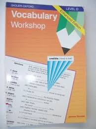 vocabulary workshop workbook level d by shostak high