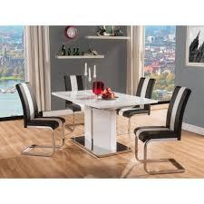 ensemble table chaises ensemble table 4 chaises blanc noir achat vente