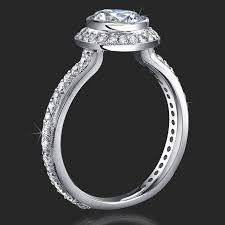 halo engagement ring settings only jewelers affordably priced bezel set halo engagement rings