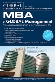 Mba Global Management Kean University Nathan Weiss Graduate
