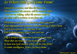so where did god come from spiritual poetry