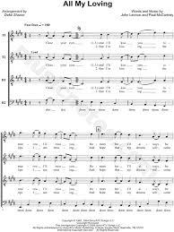 the beatles all my loving arr deke ttbb choir a