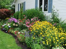 cottage garden border ideas completed with various kind of