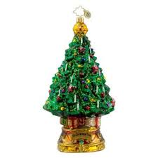christopher radko glass o tree ornament 1016310