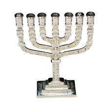 menorah 7 branch giftbay 6028 menorah 7 branch nickel plated finish 4 5 x1 5 x6 h