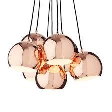 Multi Pendant Light Koge Multi Pendant L Copper With Black Cord
