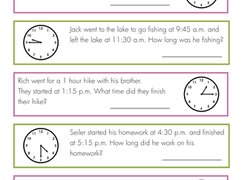 time worksheets u0026 free printables education com