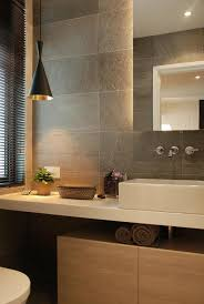 bathroom mirrors with lights behind 28 powder room ideas powder room natural stones and stone