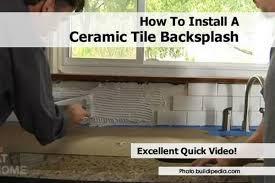 How To Install Kitchen Backsplash Video Install Ceramic Tile Backsplash Install Ceramic Tile Backsplash