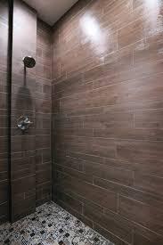 briarwood mocha faux wood shower tile by the tile shop bath