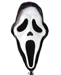 halloween ghost mask large helium balloon scream halloween party
