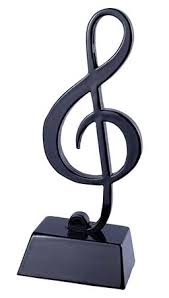 gifts notes miniature black treble clef on stand